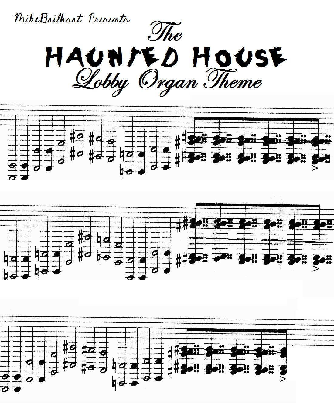 Trimper 39 s haunted house sounds - Michael in the bathroom sheet music ...