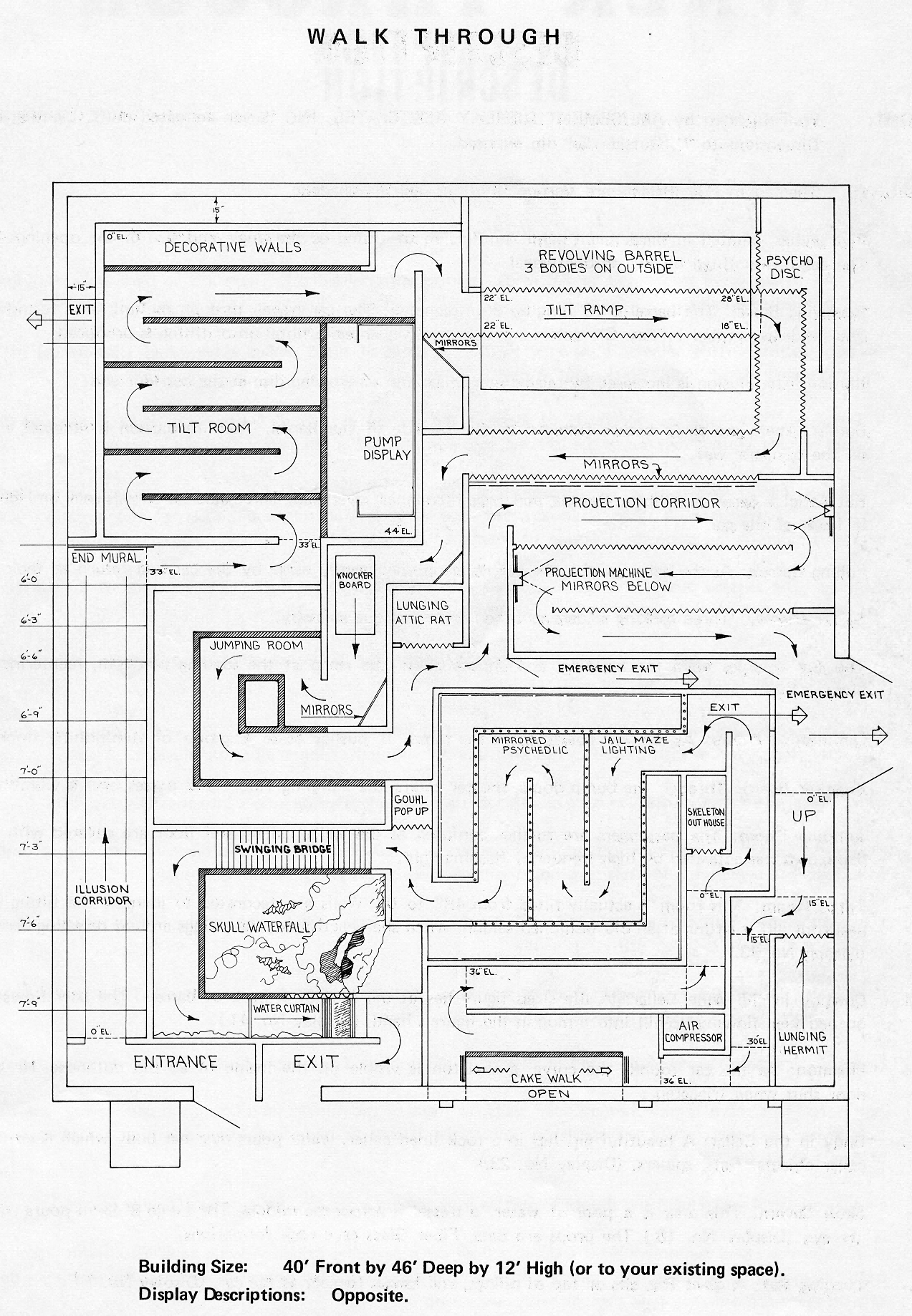 The Bill Tracy Project Ride Layouts